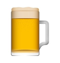 glass beer isolated icon vector image