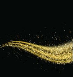 gold glitter dust trail glittering particles on a vector image