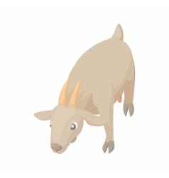 Gray cow icon in cartoon style vector image