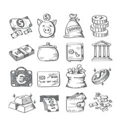 hand draw money vector image