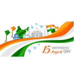 India independence day banner celebration 15 th vector
