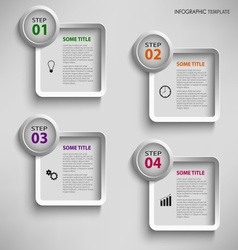 Info graphic with design square template vector