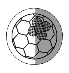 Isolated toy soccer ball damaged design vector