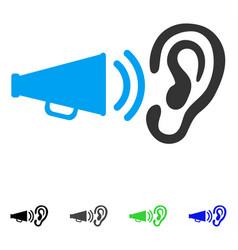 Listen megaphone news flat icon vector