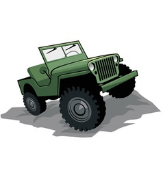 off road vehicle vector image vector image