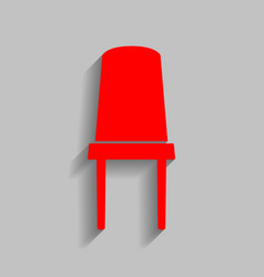 office chair sign red icon with soft vector image