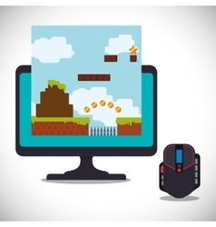 online games control mouse computer vector image