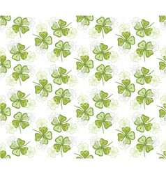 seamless decorative floral pattern with clover vector image