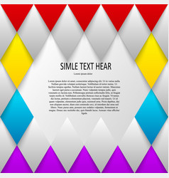Set of quote forms template colorful vector