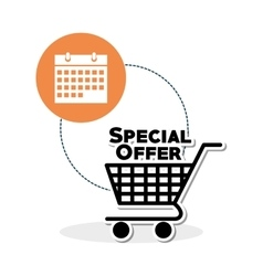 Shopping design Marketing icon Isolated vector image vector image
