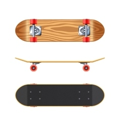 Skateboard deck side bottom realistic vector