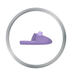 Slippers icon in cartoon style isolated on white vector