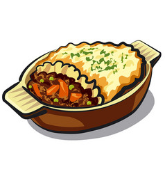 traditional shepherd pie vector image vector image