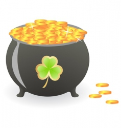 treasure pan vector image vector image