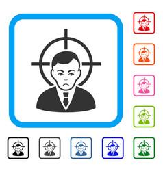 Victim businessman framed sadly icon vector