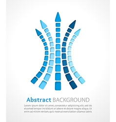 White background with cut out color arrows vector