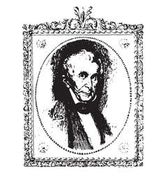 william henry harrison vintage vector image