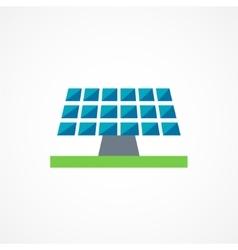Sun battery icon vector image