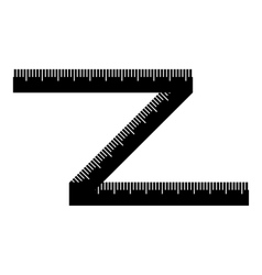 Measuring tape icon simple style vector image