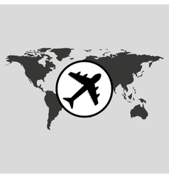 traveling world airport plane design graphic vector image