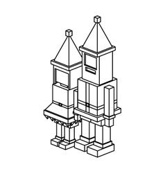 Isometric christmas santa and wife design vector