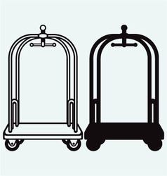 Hotel trolley vector image