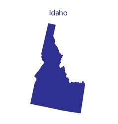United states idaho vector