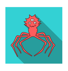 Red virus icon in flat style isolated on white vector