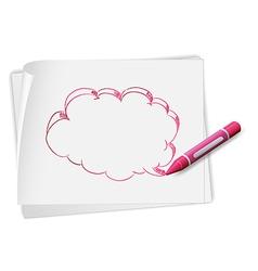 Speech Bubble Sketch vector image