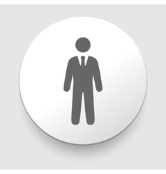 Icons of businessman or manager vector
