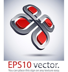 3d modern veiny logo icon vector