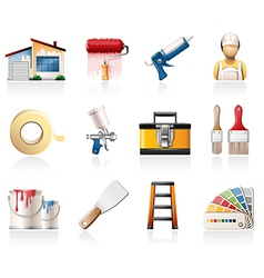 House painting icons vector