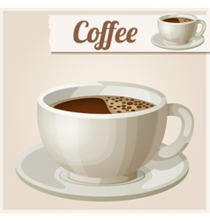 Cup of coffee detailed icon vector