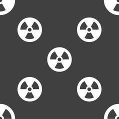 Radiation icon sign seamless pattern on a gray vector