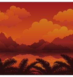 Exotic seamless landscape vector