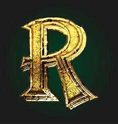 r golden letter vector image