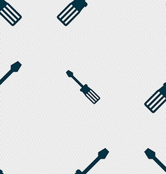 Screwdriver icon sign seamless pattern with vector