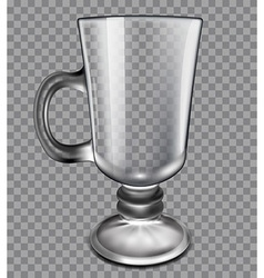 glass cup on a plaid background vector image