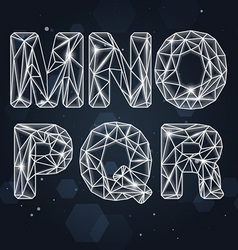 Constellation geometric font m-r vector