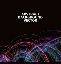 amazing linear thread abstract black vector image vector image