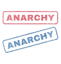Anarchy textile stamps vector
