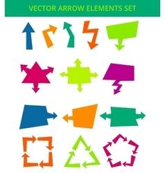 Arrow elements vector image vector image