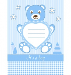 baby boy shower invitation ca vector image