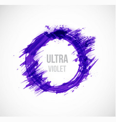 big ultra violet purple grunge circle on white vector image