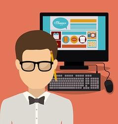 Blogger design vector image