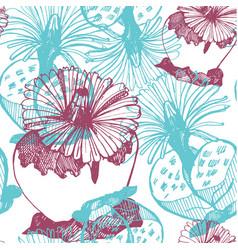 botanic blue-violet light background vector image vector image