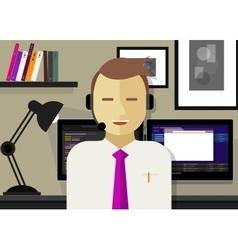 Call center crm customer relationship management vector