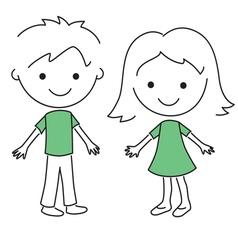 children con 3 vector image vector image