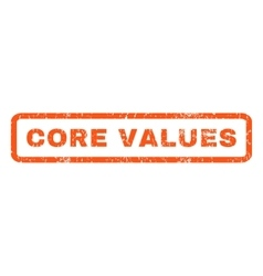Core values rubber stamp vector