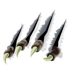 Creature claws tearing through background vector